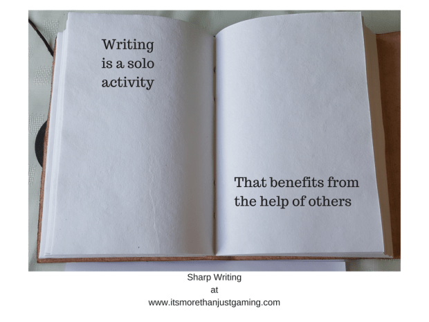 Writing is a solo activity that benefits from the help of others