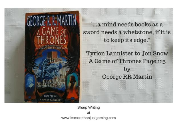 _...a mind needs books as a sword needs a whetstone, if it is to keep its edge