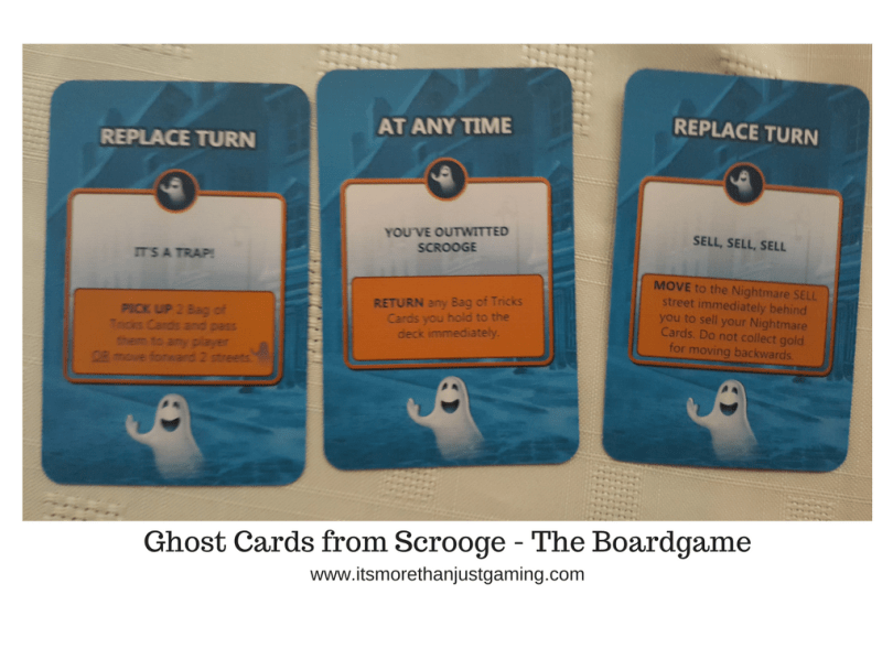 Ghost Cards from Scrooge - The Boardgame
