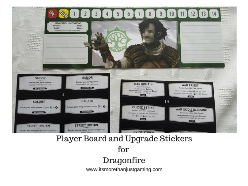 Player Board and Upgrade Stickers for Dragonfire