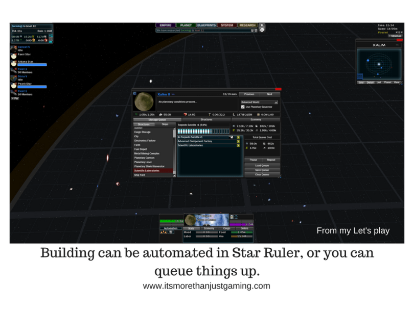 Building can be automated in Star Ruler, or you can