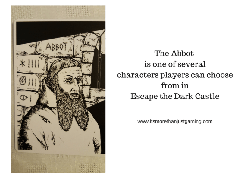 The Abbot is one of severalcharacters players can choosefrom inEscape the Dark Castle