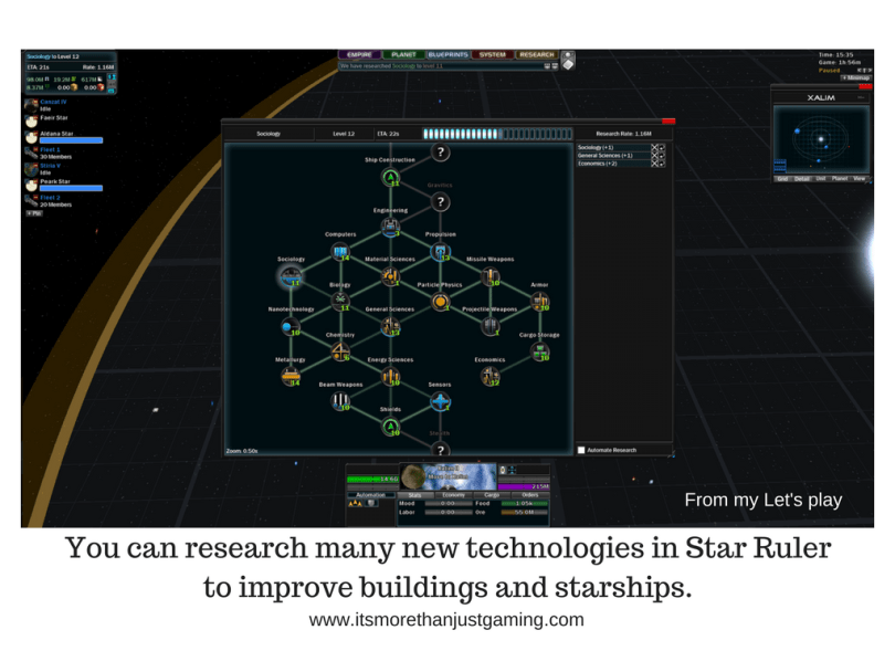 You can research many new technologies in Star Ruler
