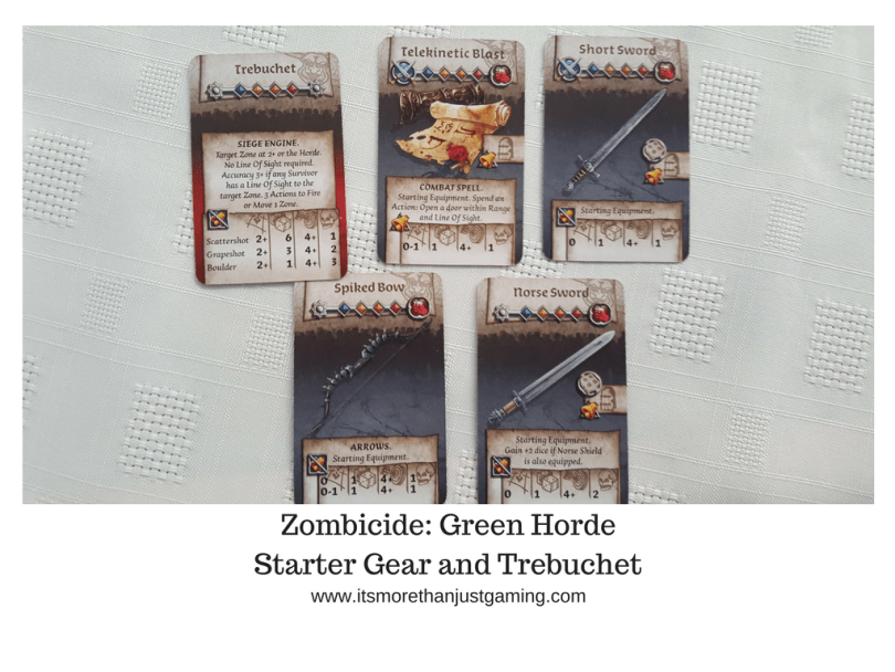 Zombicide_ Green HordeStarter Gear and Trebuchet