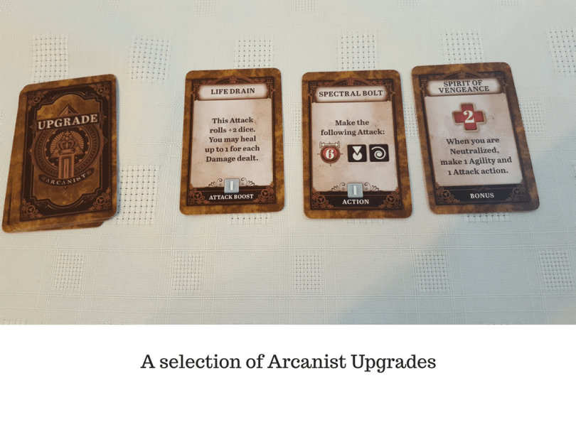 A selection of Arcanist Upgrades