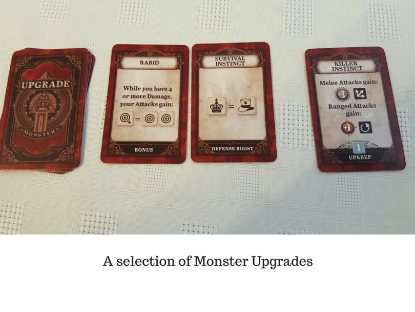 A selection of Monster Upgrades