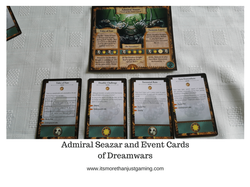 Admiral Seazar and Event Cardsof Dreamwars