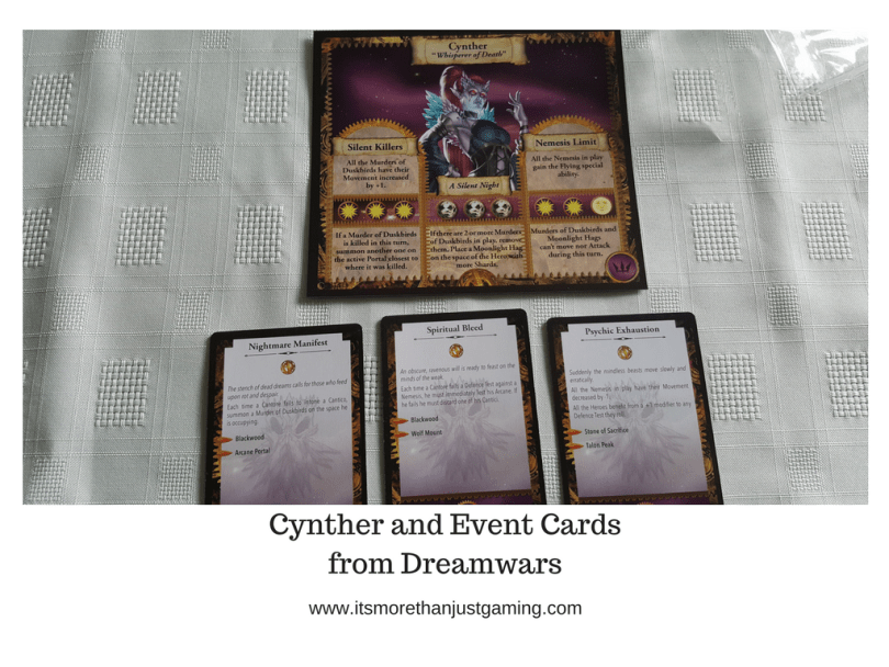 Cynther and Event Cardsfrom Dreamwars