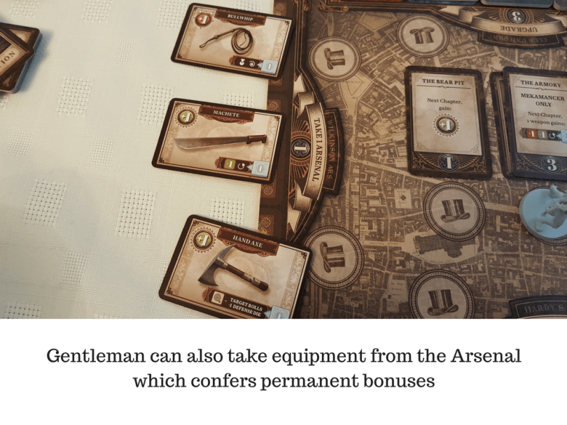 Gentleman can also take equipment from the Arsenal