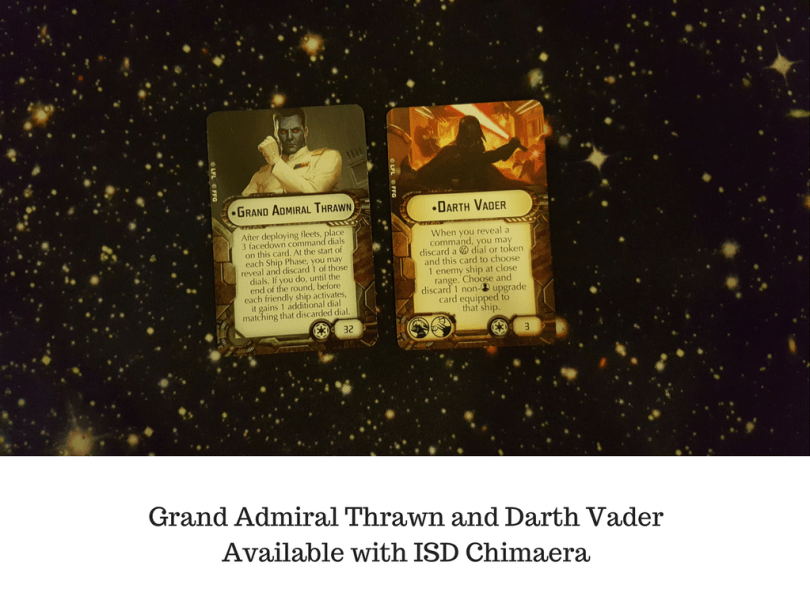 Grand Admiral Thrawn and Darth Vader Available with ISD Chimaera