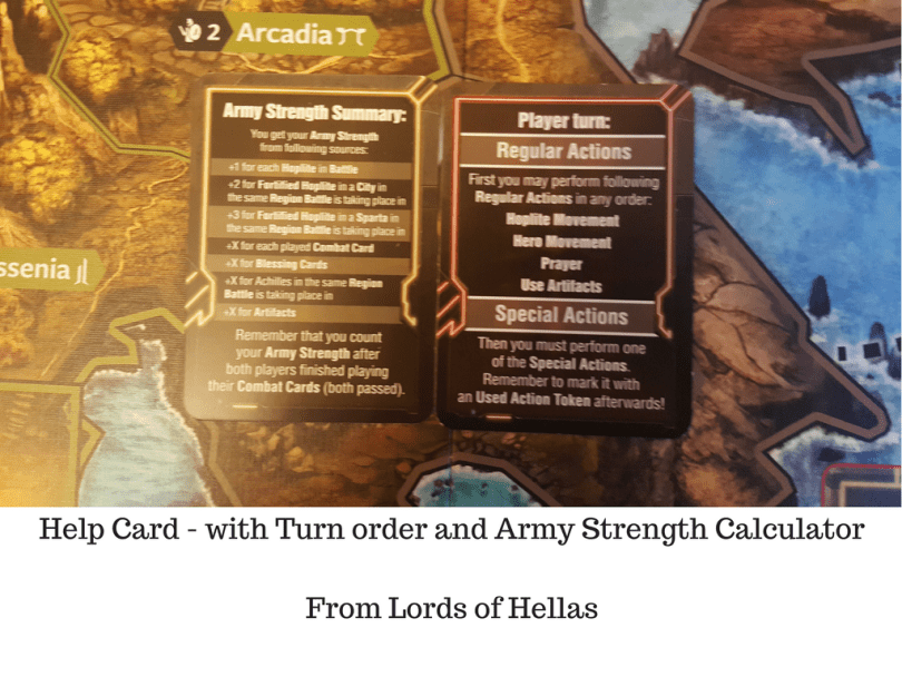 Help Card - with Turn order and Army Strength Calculator