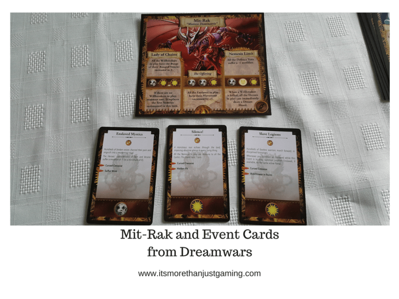 Mit-Rak and Event Cardsfrom Dreamwars