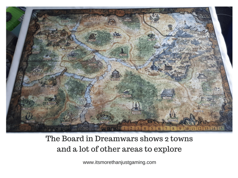 The Board in Dreamwars shows 2 towns and a lot of other areas to explore