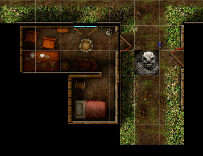 campaign cartograpgher battlemap of a hamlet