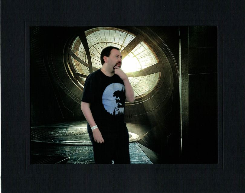 me on a greenscreened Sanctum Sanctorum