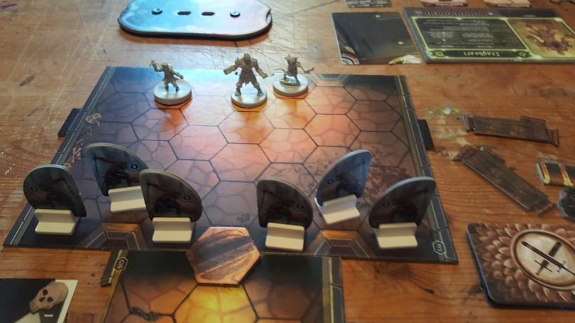 Gloomhaven Scenario 1 starting setup