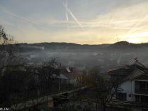 The village behind ...