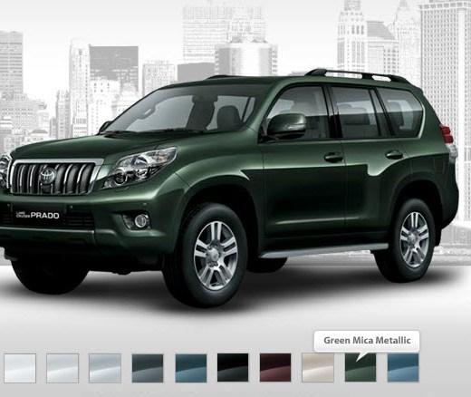 Latest-toyota-prado-2013-green-color-Price-picture
