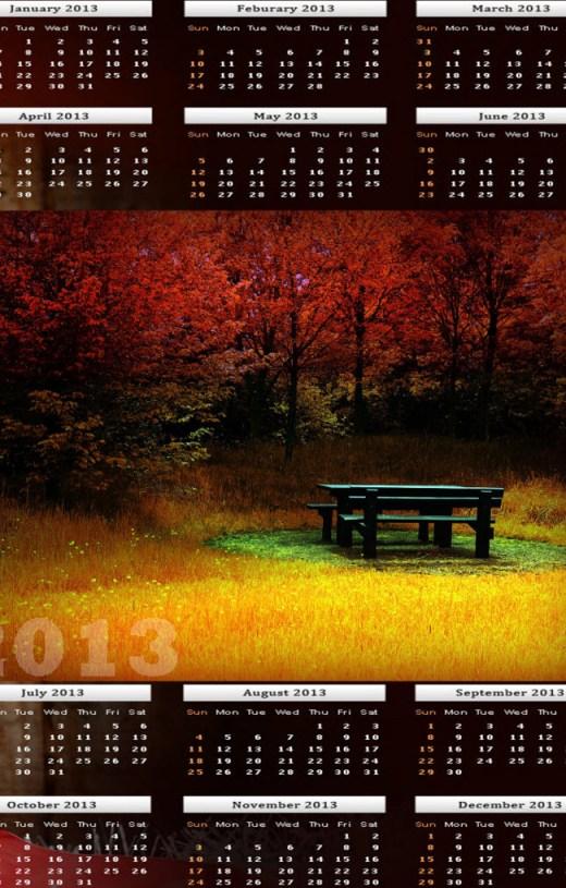 2013-calendar HD widescreen wallpaper
