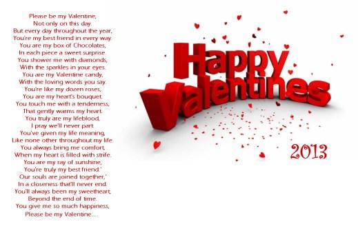 Happy valentine-day-2013 Peom for girlfriend