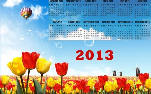 amazing calendar 2013 high defination widescreen wallpaper