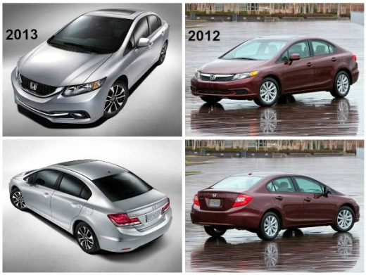honda-civic-comparision 2012- 2013