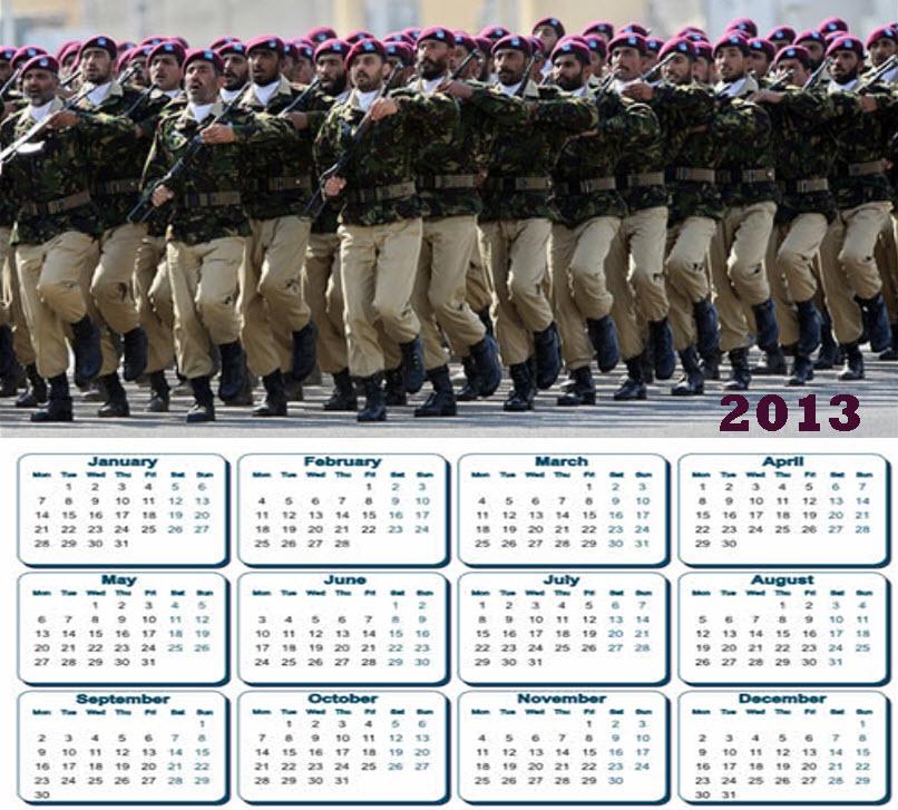 Latest 2013 Calendar Pakistan Army SSG Commando HD