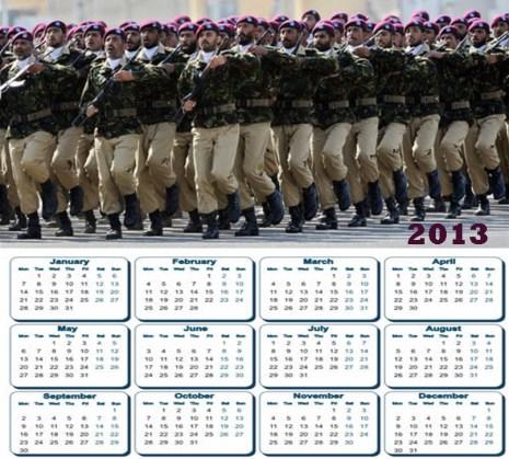 Latest 2013 Calendar Pakistan Army Ssg Commando Hd Widescreen