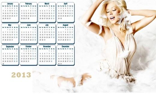 most-beautiful 2013 Calendar Hollywood Female HD widescreen desktop PC
