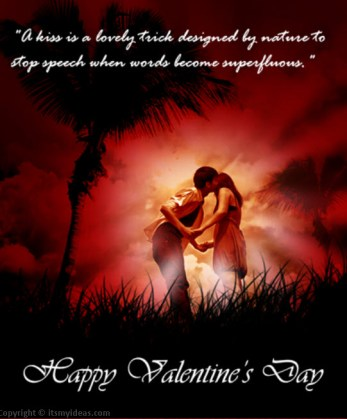 valentine-day-couple-kiss greeting card picture