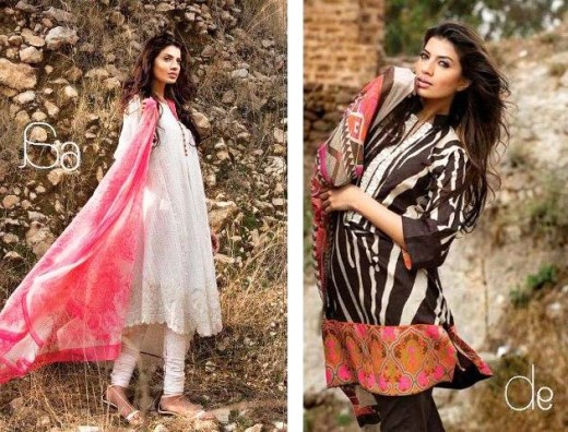 sana safina stylish summer lawn party dresses 2013 2014 for girls