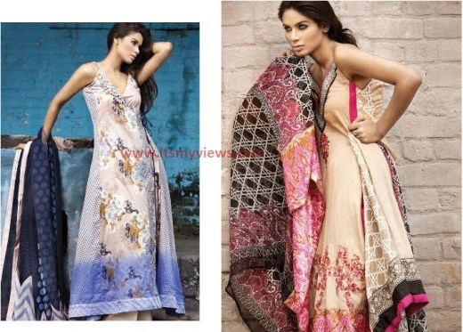 stylish-Sana Safinaz Lawn embroided designs 2013-2014 pictures