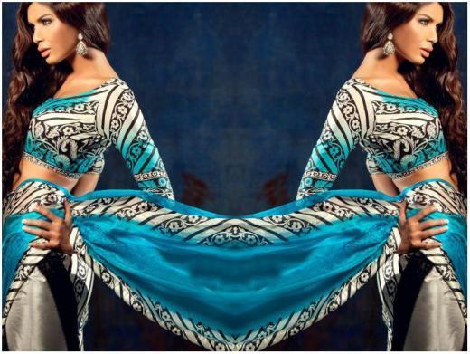 stylish sana safinaz lawn print designs 2013 2014