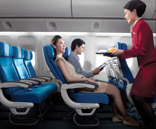 Best-airline-food-and-beautiful-airhostess-female