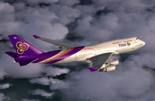 Thai-Airways International planes