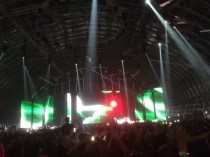 The steel yard stage