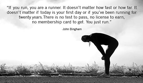 If you run you're a runner