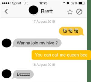Actual Bumble conversation