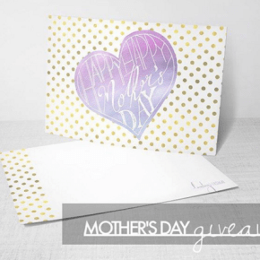 Giveaway: Custom Mother's Day Card