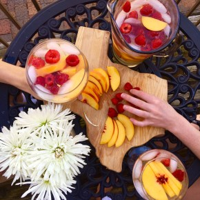 3 Ways to Enjoy Peach Raspberry Sangria