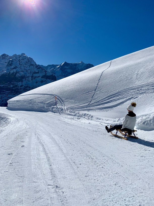 sledging first grindewald switzerland