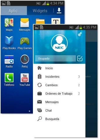 Aplicación Movil Android Técnicos de Campo
