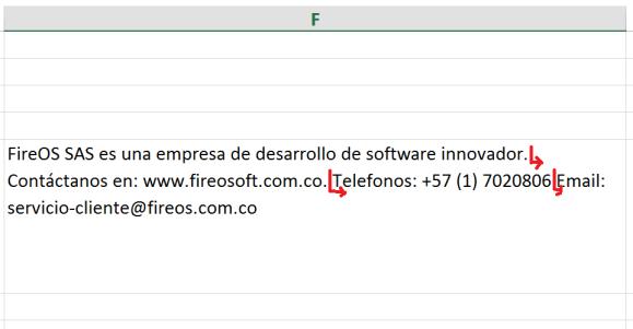Excel sin enter en celda