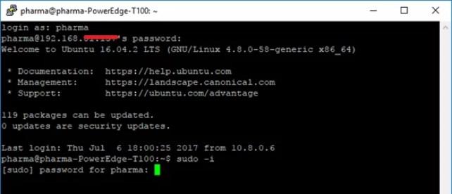 Conexión con sudo al servidor openvpn
