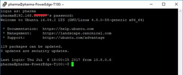 Ingreso con usuario normal a OpenVPN Server