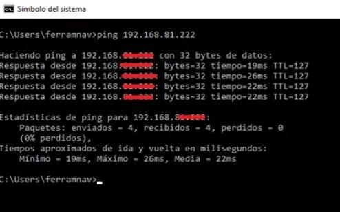 Prueba de Ping OpenVPN