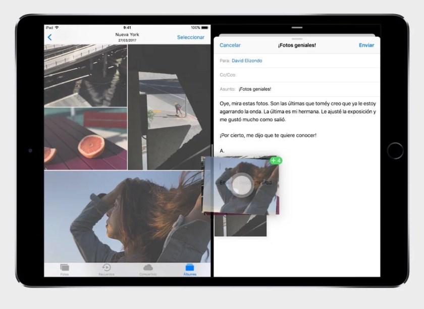 Novedades iOS 11 - Arrastrar y Soltar