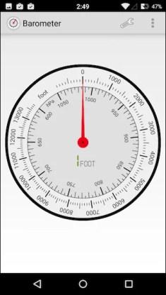 Aplicaciones con el barómetro