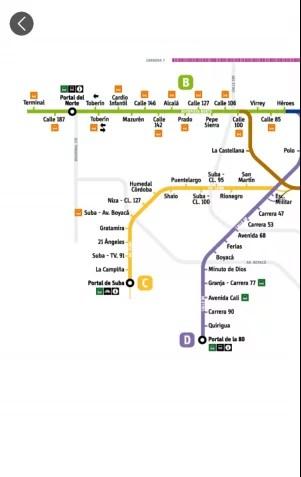 Mapa del sistema transmilenio Sitp