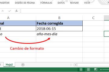 Cambio de formato de fechas Excel